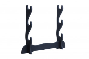 3 Piece Black Wooden Table Stand