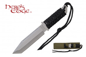"11"" Hunting Knife w/ Paracord Wrapped Handle"
