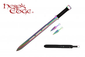 "28"" Ninja Sword w/ Throwing Knives"
