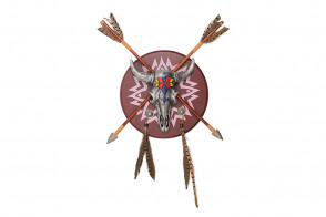 Cow Skull and Arrows Display