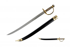 "28""  Pirate Sword w/ Brass Hilt"
