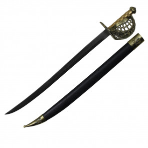 "27 7/8"" Pirate Sword w/ Brass Hilt"