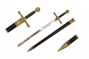 "33 3/8"" Excalibur Sword w/ Scabbard"