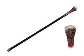 ROUND TOP SKULL WALKING CANE