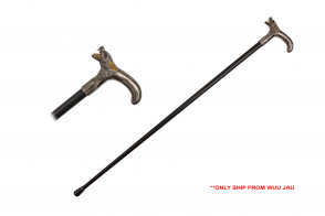 "36.5"" Walking Cane - Wolf"