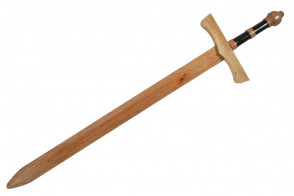"""46"""" Wooden Practice Sword With Black and Red Handle"""