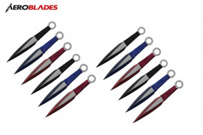 "6.5"" 12 pcs set two tones blade throwing knife"