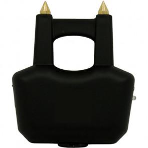 "3.5"" 20-Mill Volt Spiked Jogger Black Stun Gun w/ LED & Case"