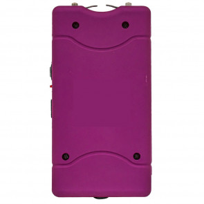 """Tachyon 4"""" Grape Purple Rechargeable Stun Gun w/ Flashlight (No Safety Pin)"""