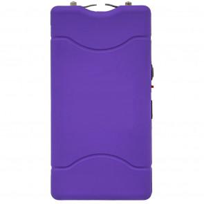 """Tachyon 4"""" Violet Purple Rechargeable Stun Gun w/ Flashlight (No Safety Pin)"""