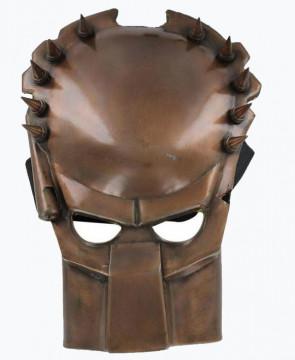 Stainless Steel Mask - Predator Alien Bronze Finish w/ Velcro Strap