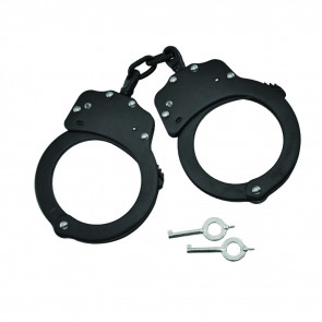Double Lock Chained Handcuffs (Black)