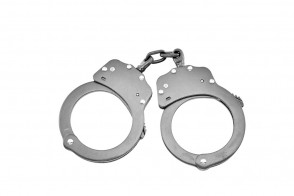 Double Lock Chained Handcuffs (Chrome)