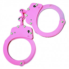 Double Lock Chained Handcuffs w/ Carrying Case (Pink)