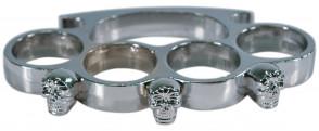Silver Skull Belt Buckle