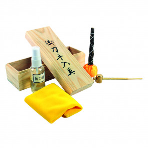Sword Cleaning Kit In Nice Wooden Box