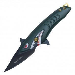 "5 1/2"" ASSISTED OPEN SHARK KNIFE"