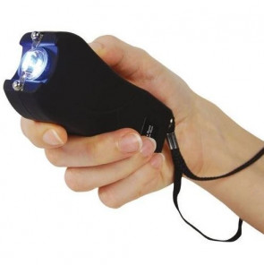 80-Million Volt Flashlight Black Stungun Taser w/ Safety Pin
