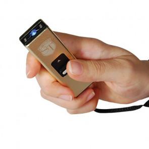 USB Keychain GOLD Stun Gun Taser w/ LED Flashlight