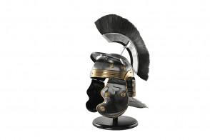 Roman Helmet w/ Black Crest