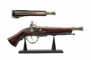 "15"" Antique Gun Replica w/ Display"