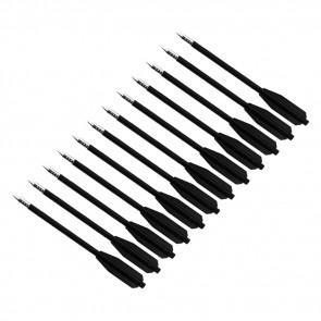 12PC  PLASTIC BOLT FOR XBOW 50LB
