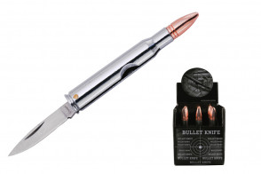 rifle Bullet Knife  silver