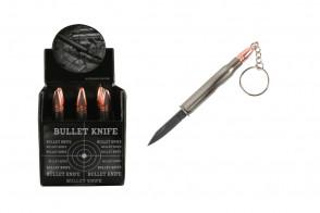 key-chain rifle Bullet Knife silver