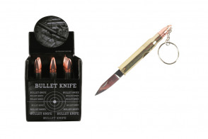 12 Piece Bullet Knife Display w/ Keychain