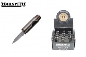 pistol Bullet Knife silver