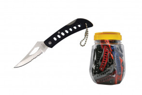 60 Piece Non Spring Assisted Pocket Knives Small In Jar
