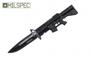 """8.25"""" Spring Assisted Knife w/ M16 Handle"""