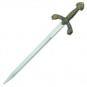 "7.5"" brass Richard lion letter opener"